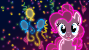 Neon Pinkie Pie Wallpaper by ZantyARZ