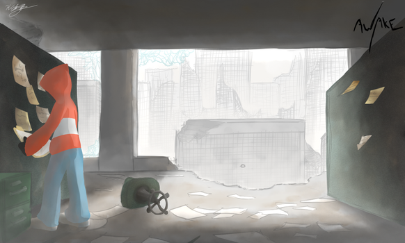 AWAKE City Ruins -Office Interior- by sonicbommer