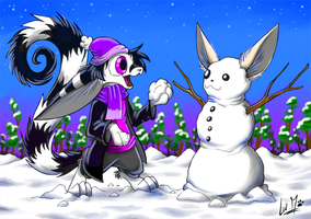 Snow bunnies by Chocolatechilla