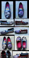 Zoids: Painted shoes by MidnightLiger0