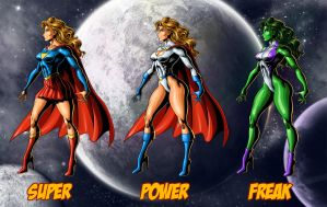 Superheroine Styles by ric3do