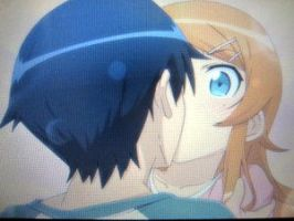 Oreimo PSP Kirino Route kiss by Chrisman1991