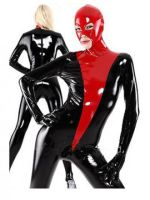 Black And Red Pvc Sexy Catsuit by lilaliu