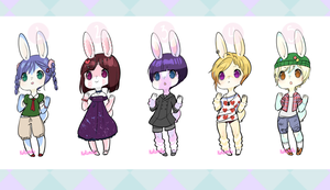 OPEN Adoptable Bunnies 4 by adodoptables