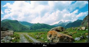 Kazbegi panorama by blakk