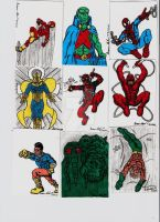 COMIC SKETCH CARDS IN COLOR 1 by shawncomicart