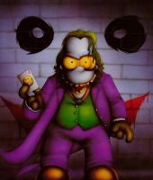 Homer Simpson as the Joker by Dyslexic-Ferret