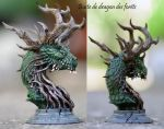 Bust of forest's dragon by Svergithz