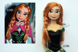 Concept Art Anna Doll Repaint 2015|Old vs New by claude-on-the-road