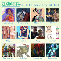 2014 Art Summary by MidoriEyes