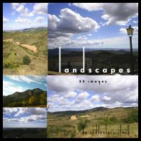 Landscapes and clouds Pack by Redlantern-stock