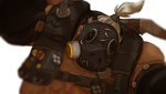 roadhog pose study by CalmingSoul
