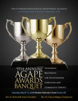 IMA Agape Awards Banquet Cover by cgitech