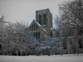 York minster in the snow . by velar1