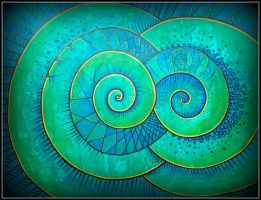 spiral new dra 2012 lin tex up do blue green by santosam81