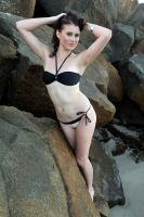Rommley - black bikini pose 1 by wildplaces