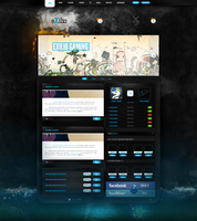 eXilio Gaming PSD by encore13
