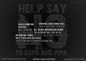 SAY NO TO SOPA AND PIPA! by miguelm-c