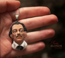 OOAK Polymer Clay ' Salvador Dali ' Pendant by imge
