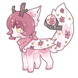 Flower Crystal Horn Pup Auction by puqq