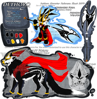 .:Character Reference Sheet 2014: Dethoro:. by Mayasacha