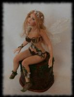 02 Spring Fairy sculpture ooak, 1 inch head by Rosen-Garden