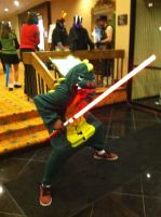 Anime Crossroads 2013 - Dino Sith Lord by GoodDokCosplay