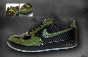 Custom Sneakers Green AF1:s by JohanNordstrom