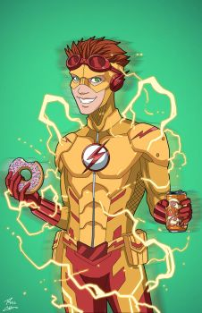 Kid Flash (Earth-27) commission by phil-cho