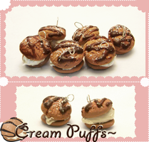 Cream puff Charms by LadyDeven