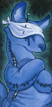 Blind Blue Fox by ursulav