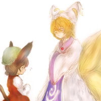 Ran Yakumo and Chen by ReinedBloom