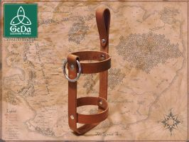 Leather Bottle Holder 1 by GeDaLeather