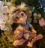 polymer clay boy and dragon by crazylittlecritters