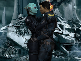 We survived. - OC (commission) Jilian and Ryder by Taleeze