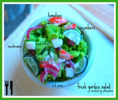 salad in miniature by AlliesMinis