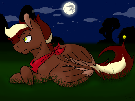 Lonely Night (Oc Autumn Swirl) by Konory
