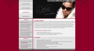 webdesign for jm optic by ELLEGUN