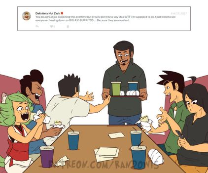 Weekly Doodles - Burrito Outing! by RandoWis