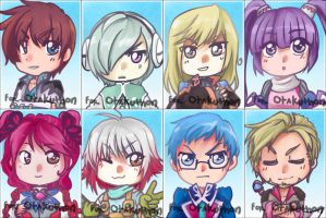 Otakuthon-Tales of Graces Keychains by T3hb33
