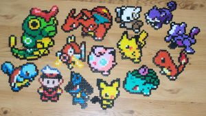 Pokemon Bead Sprites by gfroggy87
