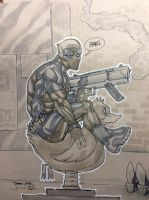 Deadpool Riding a Duck by thejeremydale