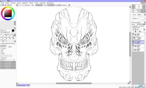 My Terminator - Sketch (Paint Tool SAI - Testing) by Unreal-Forever