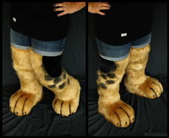 German-shepherd feet+legs by FarukuCostumes