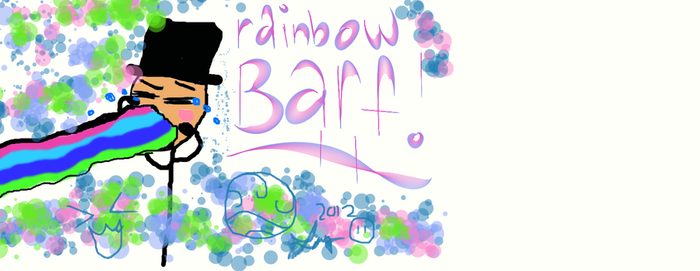 rainbow barf by forgottenwaterbender