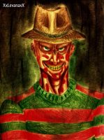 A Nightmare on Elm St: Freddy Krueger -portrait- by XxLevanaxX