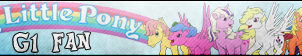 My little pony G1 Fan button by Fluttershy626