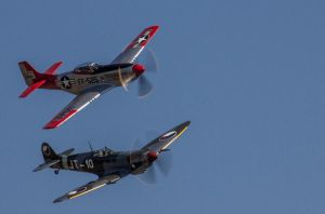 Spitfire and Mustang by nigel3
