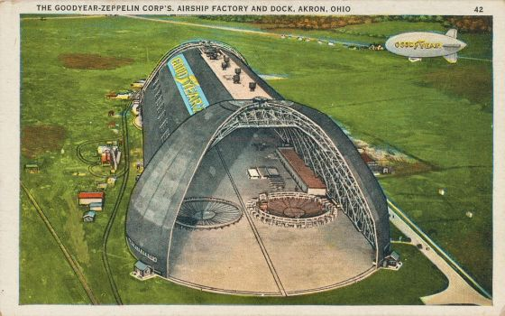 Vintage Ohio - Goodyear Airship Factory by Yesterdays-Paper