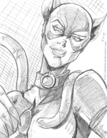 CATWOMAN SKETCH by DRAKEFORD
